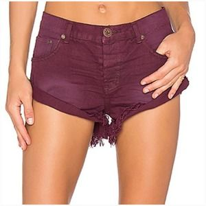 One X One Teaspoon Bandits Raw Hem Cuffed Shorts